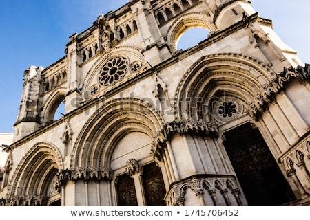 Cathédrale étroite vue façade bâtiment église Photo stock © Procy