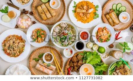 Stock photo: assortment of asia food