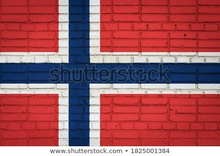 Norwegia · banderą · grunge · Europie · kraju - zdjęcia stock © creisinger