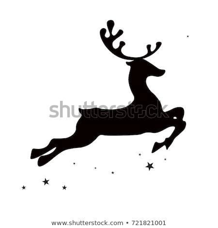 работает · оленей · иллюстрация · Рождества · северный · олень · икона - Сток-фото © kaludov