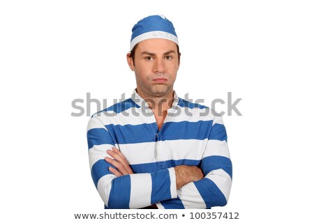 Man in prisoner outfit Stock photo © photography33