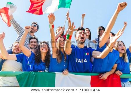 Italienisch Fußball Mann Sport malen Malerei Stock foto © photography33