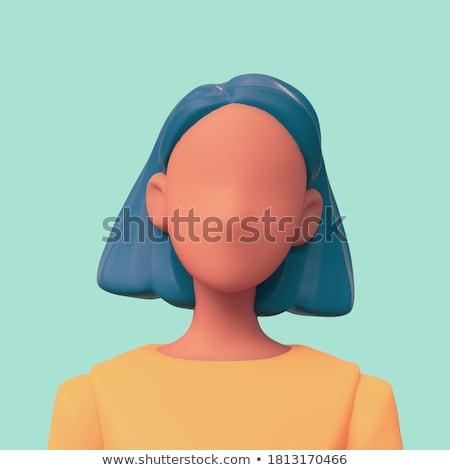Gestileerde vrouw kort zwart haar illustratie zwarte Stockfoto © paulfleet
