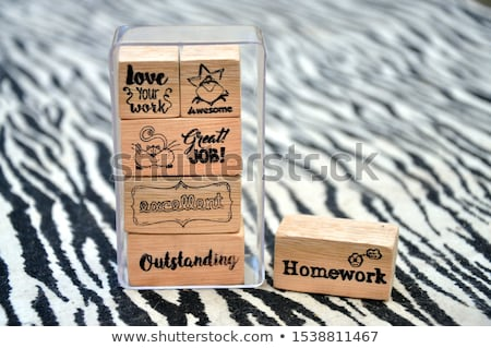 Congrats rubber stamp stock photo © IMaster