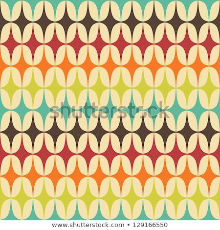 Végtelenített retro minta papír absztrakt narancs zöld Stock fotó © creative_stock