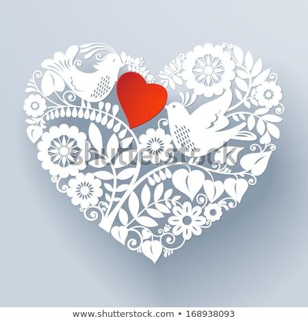 Deux saint valentin bannières mariage fête amour Photo stock © carodi
