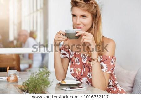 Foto stock: Young Woman Having Salad