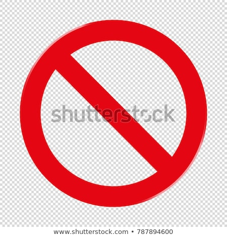 vermelho · vetor · assinar · não · símbolo - foto stock © hermione