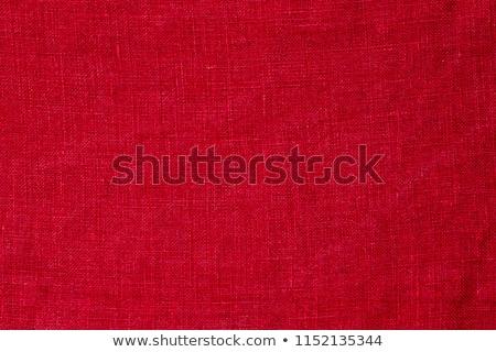piros · vászon · szövet · textúra · közelkép · absztrakt - stock fotó © MiroNovak