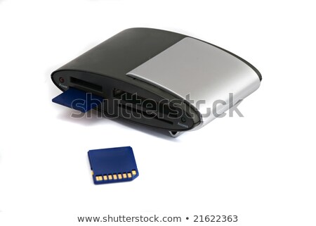 memory card rider with inserted card stock photo © vaeenma