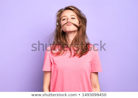 great shot of attractive woman face stock photo © konradbak