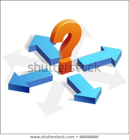 Question Mark in Three Dimension Stock photo © Lightsource