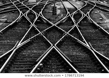 Szimmetrikus vonat útvonal Stock fotó © aetb