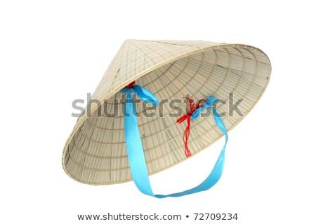 tipik · şapka · Vietnam · detay · arka · plan · model - stok fotoğraf © guillermo