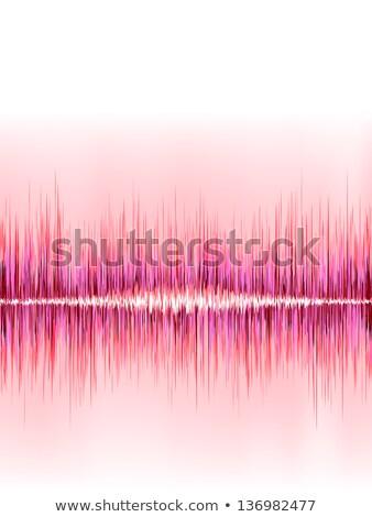 Roze geluidsgolf witte eps8 vector bestand Stockfoto © beholdereye