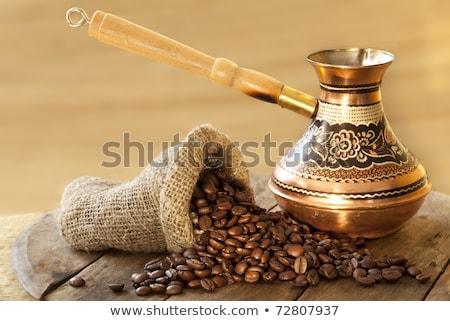 カップ · コーヒー · 穀類 · 白 · 背景 · グループ - ストックフォト © zhukow