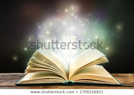 fairy tale abstract fantasy backgrounds with magic book stock photo © tolokonov