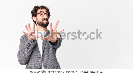 бизнесмен ужас Постоянный изолированный Сток-фото © smithore