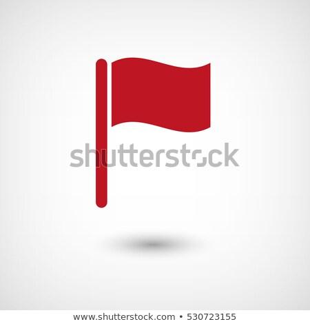 красный флаг Pin тень служба знак Сток-фото © Zerbor