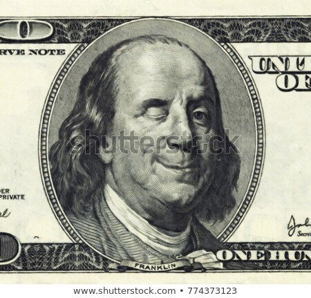Benjamin Franklin winking Stock photo © HypnoCreative
