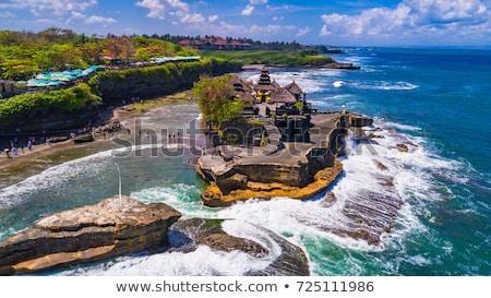 templom · sziluett · kicsi · kő · naplemente · Bali - stock fotó © tuulijumala
