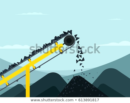 pile of coal in quarry stock photo © speedfighter