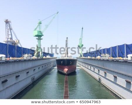 Hajó száraz dokk katonaság nagy lebeg Stock fotó © Aikon