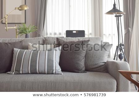 divano · cuscini · quattro · muro · famiglia · moda - foto d'archivio © Ciklamen