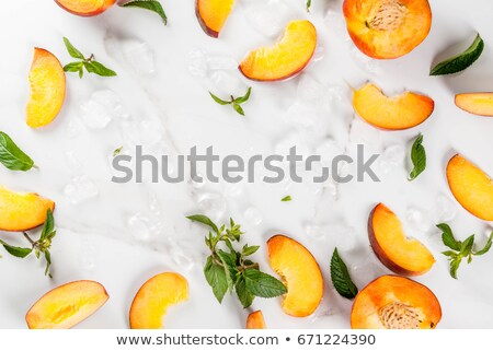 ice cube and peach stock photo © givaga
