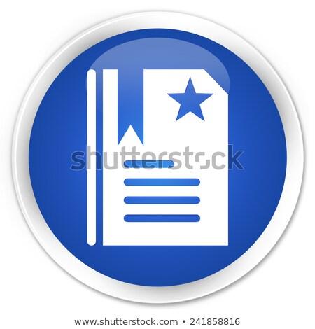 Favori star ikon parlak mavi düğme Stok fotoğraf © faysalfarhan