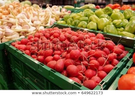 Czerwony sklep spożywczy produkować dział Zdjęcia stock © pixelsnap