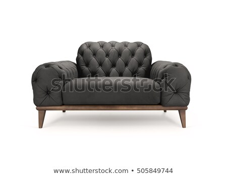 black luxury armchair isolated with clipping path Stock photo © tungphoto