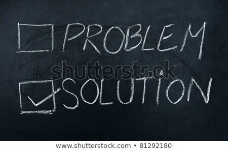 problèmes · solutions · texte · école · bord · affaires - photo stock © alexmillos