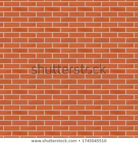 Terracotta Brick Wall. Seamless Tileable Texture. Stock photo © tashatuvango