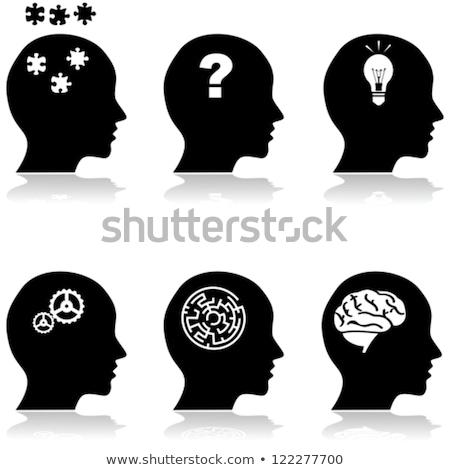 Cuestión laberinto confusión perplejo símbolo Foto stock © stuartmiles