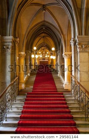 лестницы · дома · спиральных · древесины · дизайна - Сток-фото © konradbak