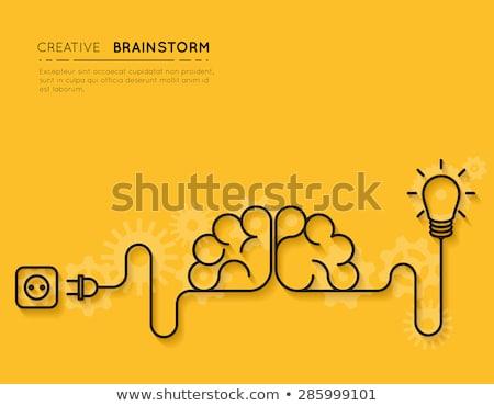 Vektör beyin fırtınası soyut iş Internet dizayn Stok fotoğraf © burakowski