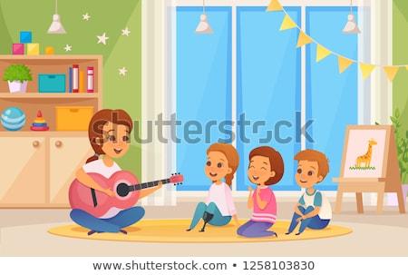 girl playing guitar set Stock photo © pxhidalgo