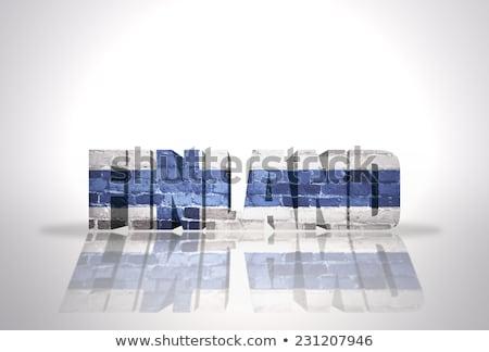 Finnország 3D zászló izolált fehér textúra Stock fotó © boroda