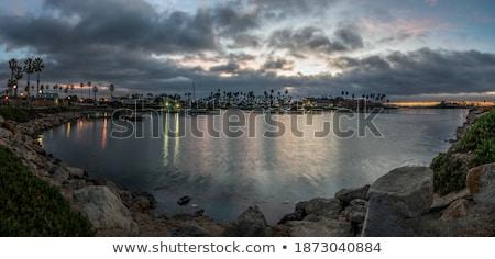 Ay su dramatik gökyüzü karanlık bulutlar Stok fotoğraf © suerob