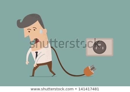 Homme d'affaires connexion eps10 vecteur format bureau Photo stock © ratch0013
