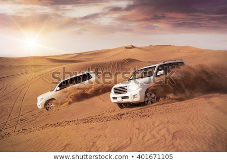 Dzsip sivatag szafari autó teherautó férfiak Stock fotó © Mikko