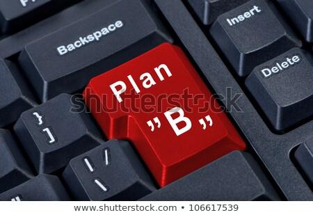 plan · b · imprenditore · seduta · desk · testo - foto d'archivio © tashatuvango