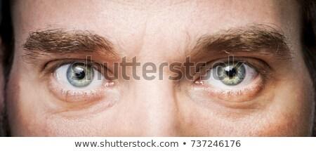 ojos · hombre · detalle · cara · pelo · belleza - foto stock © meinzahn