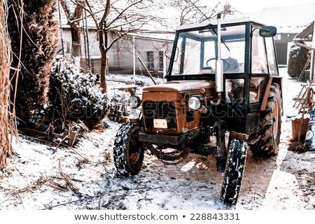 ciągnika · opon · biały · transportu · opony · maszyn - zdjęcia stock © jarin13