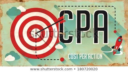 CPA Concept. Poster in Flat Design. Stock photo © tashatuvango