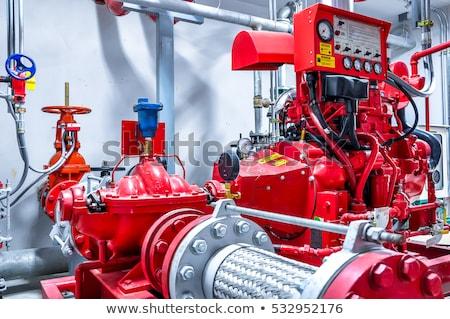 Zdjęcia stock: Ognia · pompować · czerwony · kolor