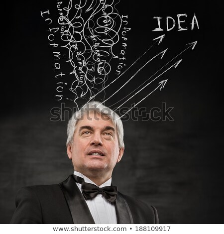 Business man converting experience information knowledge ideas Stock photo © HASLOO