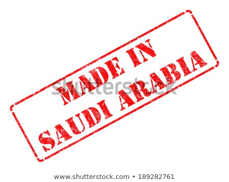 Arábia Saudita vermelho isolado branco Foto stock © tashatuvango