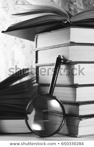Eğitimi Eski kağıt kırmızı dikey hat Stok fotoğraf © tashatuvango
